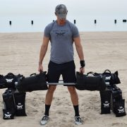 Anytime Anywhere - MoBell Muscle Tri-Blend T-Shirt - Beach Training